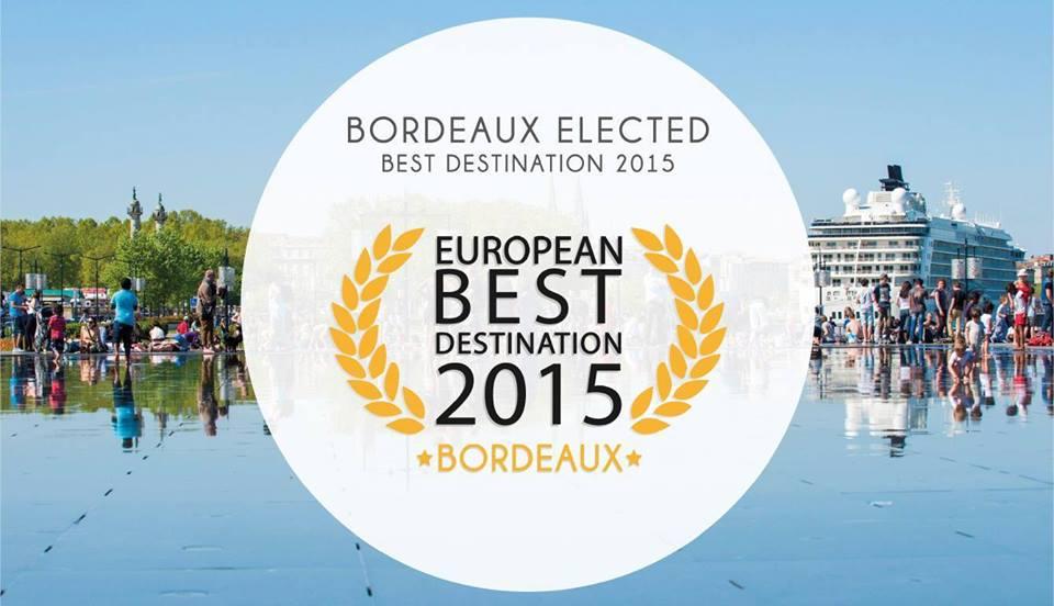 Bordeaux gagnante du titre European Best Destinationj