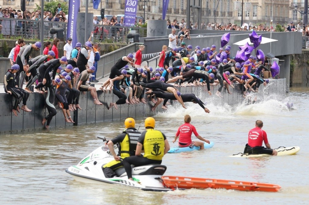 Traversée Bordeaux à la nage