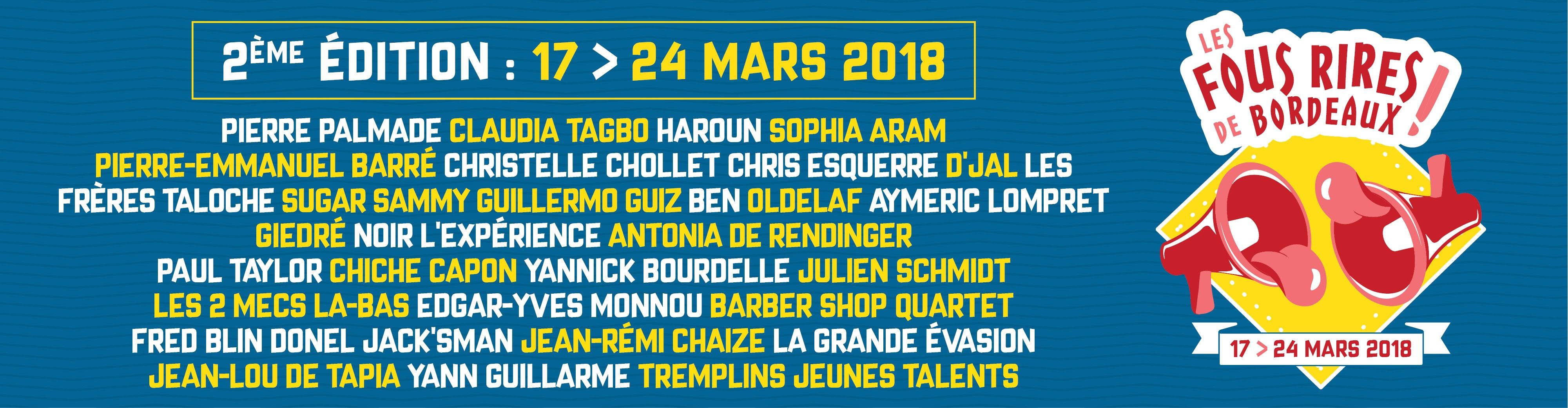 Festival Les Fous Rires de Bordeaux : La deuxième Édition débarque en Mars à Bordeaux !