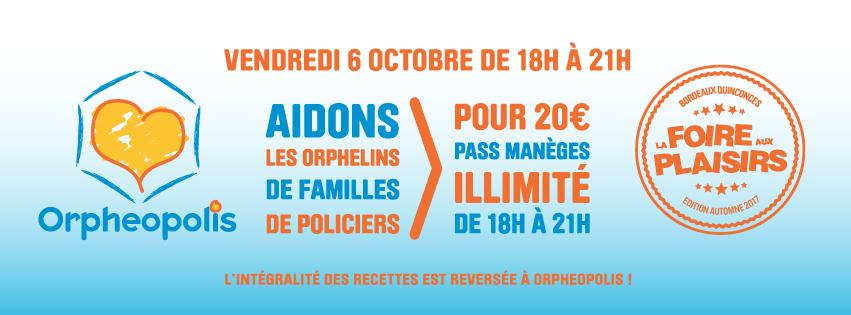 La Foire aux Plaisirs édition automne 2017 débarque à Bordeaux. Soirée caritative association Orpheopolis.