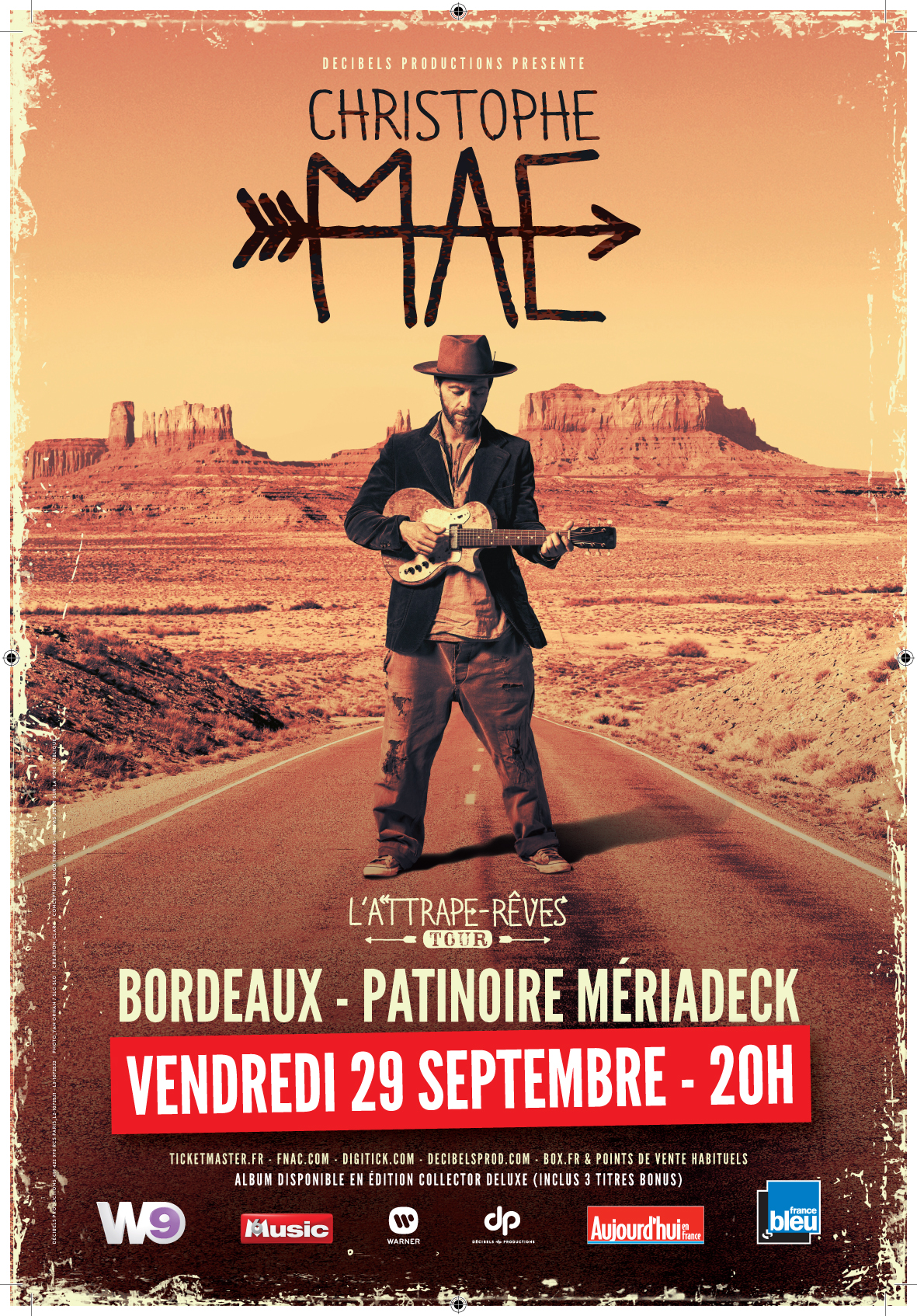 Les bons plans à Bordeaux vous font gagner vos places pour le concert de Christophe Maé à Bordeaux