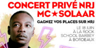 Les Bons Plans à Bordeaux vous font gagner vos places pour concert privé NRJ de Mc Solaar