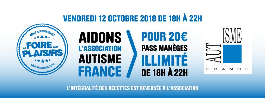 Les Bons Plans Bordeaux vous offrent vos entrées pour la Foire aux Plaisirs de Bordeaux édition Automne 2018 - Association autisme