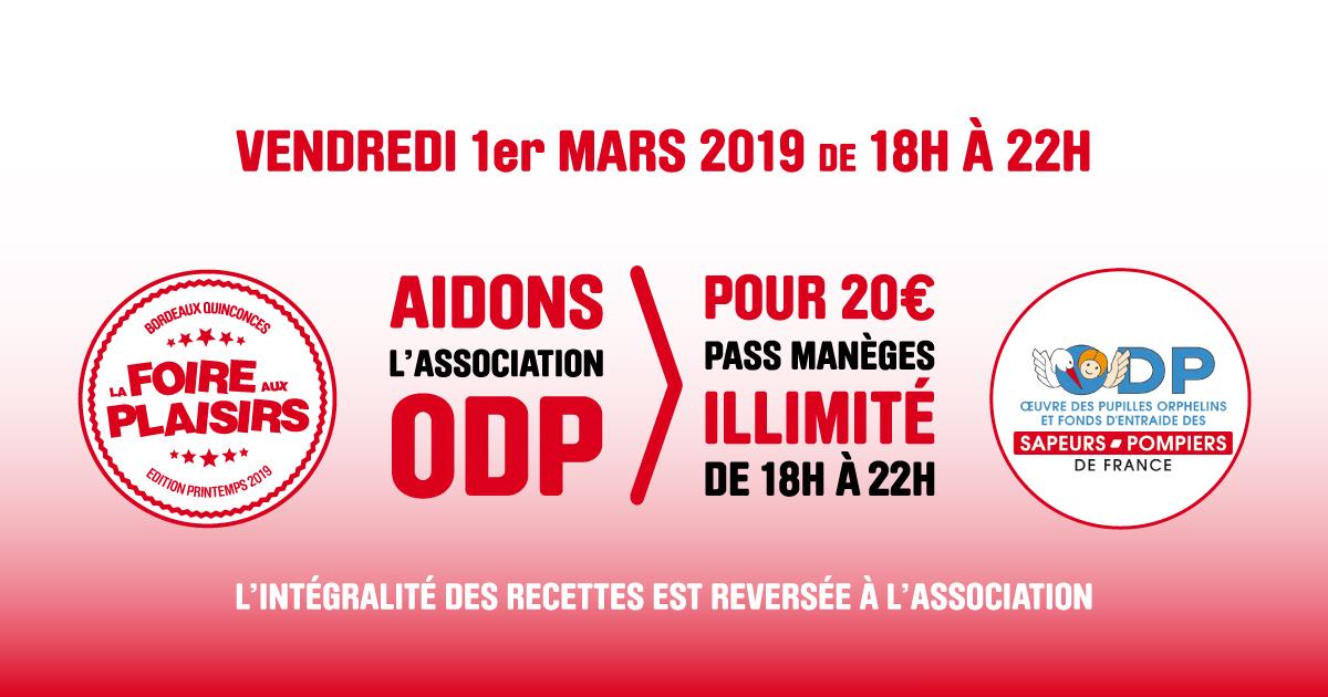 Les Bons Plans à Bordeaux vous offrent vos entrées pour la Foire aux Plaisirs de Bordeaux édition Printemps 2019 - Association ODP