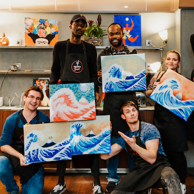 Les Bons Plans Bordeaux présentent : Happy Paint, la Nouvelle vague des apéros peinture arrive à Bordeaux le Samedi 23 mars 2019