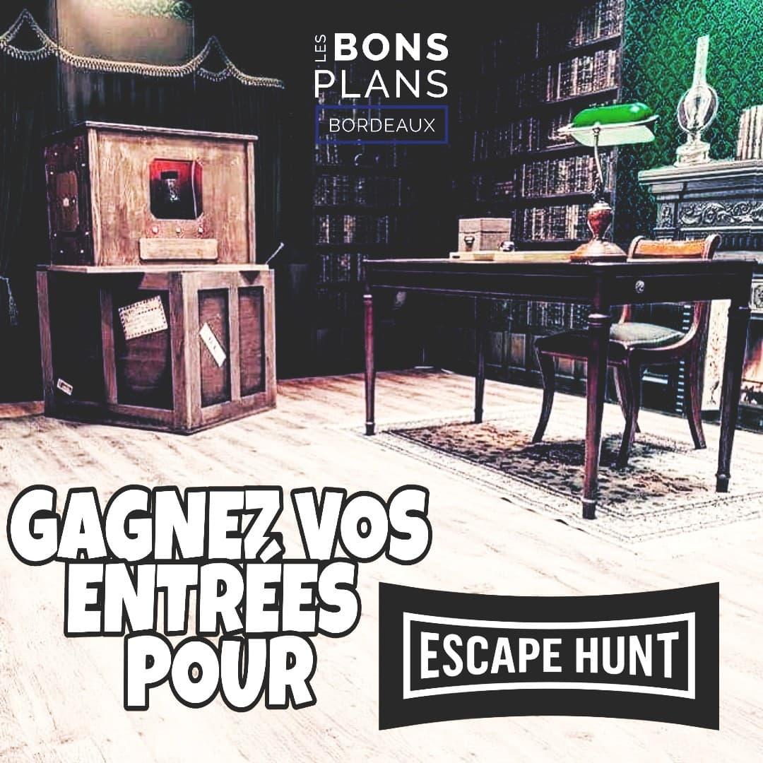 CONCOURS : Les Bons Plans à Bordeaux vous font gagner des places pour Escape Hunt.