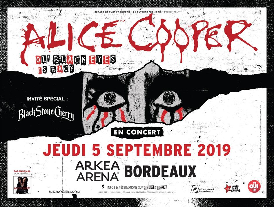 Les Bons Plans à Bordeaux vous offres vos places pour le SHOW Alice Cooper à Bordeaux !