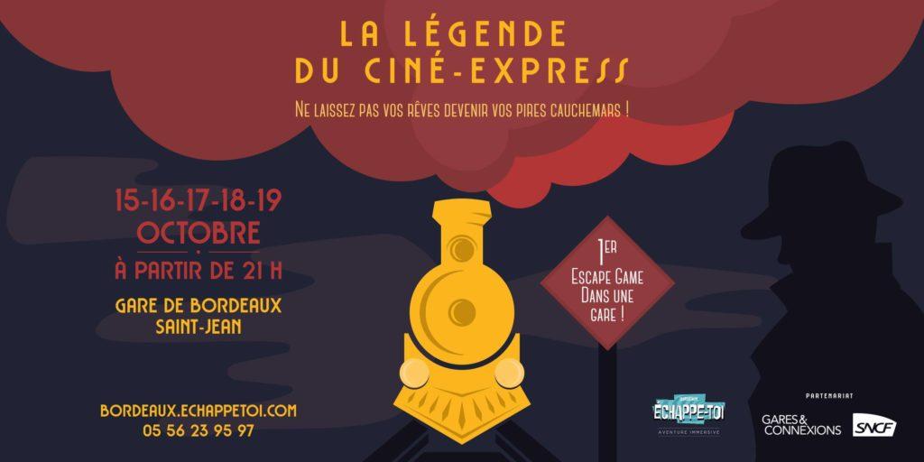 Les bons plans à Bordeaux présentent : Escape game de nuit à la Gare Saint-Jean tous les soirs jusqu'au 19 Octobre ! 1