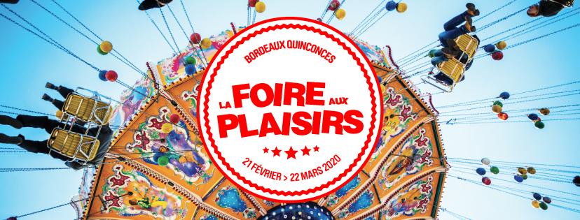 Les Bons Plans Bordeaux vous offrent vos entrées pour la Foire aux Plaisirs de Bordeaux édition Automne 2020 - 1