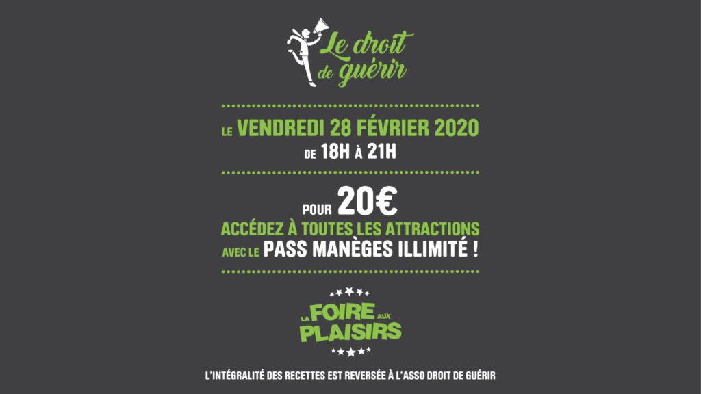 Foire aux Plaisirs de Bordeaux : Soirée caritative au profit de Le Droit de Guérir