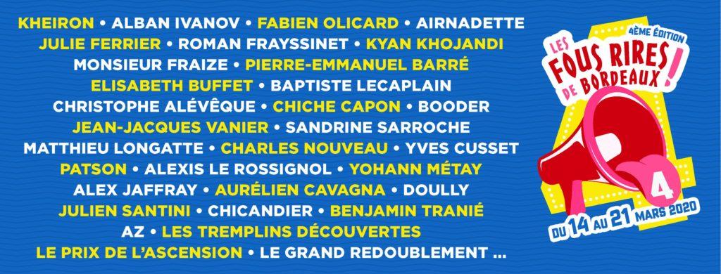 Les Bons Plans Bordeaux : Les Fous Rires de Bordeaux de retour pour la 4ème édition ! Programme