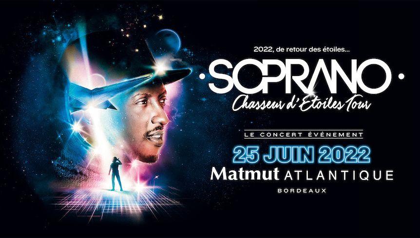 C'est confirmé ! L'artiste marseillais Soprano remonte sur scène et sera en concert au Matmut Atlantique en Juin 2022